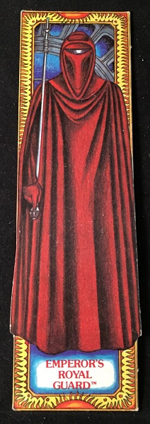 Original 1983 Star Wars Return of the Jedi EMPEROR'S ROYAL GUARD Bookmark; #13 in the series. George LUCAS.
