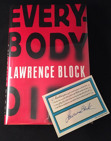 Everybody Dies (LAID-IN BOOKPLATE). Detective, Lawrence BLOCK.
