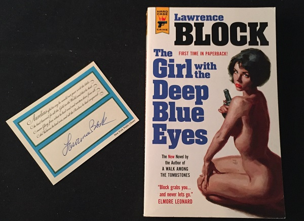The Girl with the Deep Blue Eyes (SIGNED FIRST PAPERBACK EDITION). Detective, Mystery.