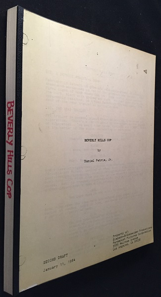 "Beverly Hills Cop Screenplay, Circa 1984 (Early 2nd Draft featuring ""Axel Elly""). Daniel PETRIE, et all."