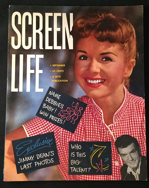 Screen Life Magazine for September, 1956 (FAMOUS CONTEST TO NAME DEBBIE'S BABY - THE FUTURE PRINCESS LEIA). Star Wars, Debbie REYNOLDS, Carrie FISHER, et all.