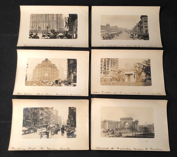 Lot of 6 (SIX) Original WWI Era Silver Gelatin Photographs of New York City (Wall Street). NEW YORK CITY.
