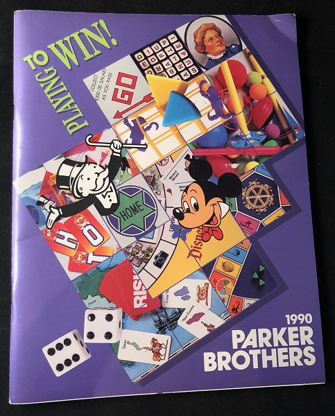 1990 Parker Brothers Official Catalog of Products. Toys, Games.