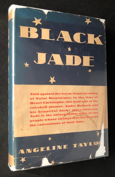 Black Jade (FIRST PRINTING W/ DJ). Angeline TAYLOR.