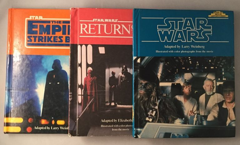 FIRST PRINTING COMPLETE SET Star Wars, The Empire Strikes Back & Return of the Jedi STEP-UP MOVIE ADVENTURES BOOKS. Larry WEINBERG, Elizabeth LEVY.