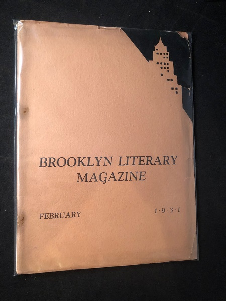 The Brooklyn Literary Magazine; Owned and Published by the Students of the Women's Division of Brooklyn College. Dorothy BRANDFON, et all.