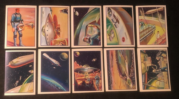 """1962 Mister Softee Complete 10 Card Set """"Adventures of Captain Chapel"""" (Issued in the same year as the JFK """"We choose to go to the Moon"""" speech at Rice University). John KENNEDY, et all Mister Softee."""