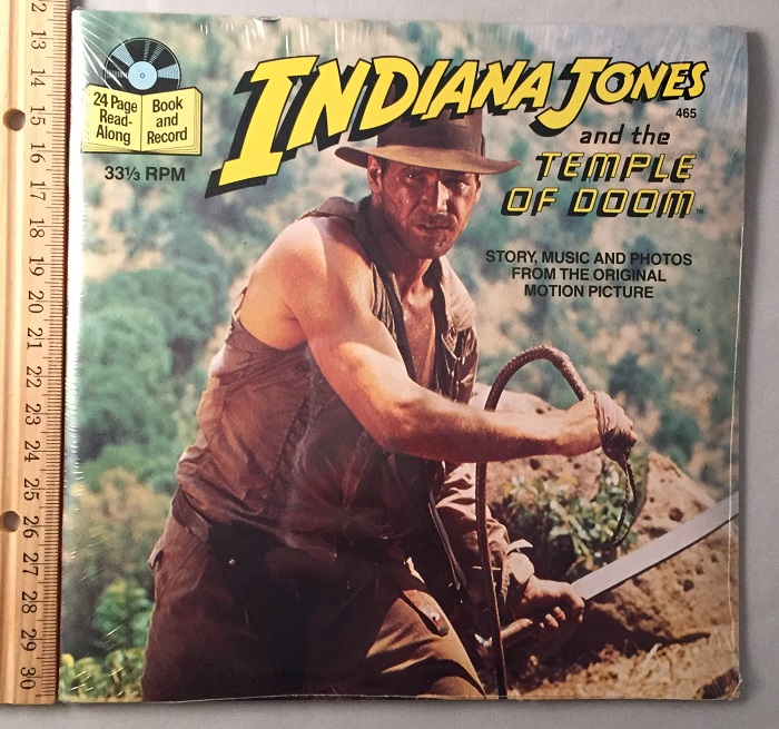 Indiana Jones and the Temple of Doom 24 Page Read-Along (SEALED IN ORIGINAL WRAP). James KAHN, George LUCAS, Buena Vista Records.