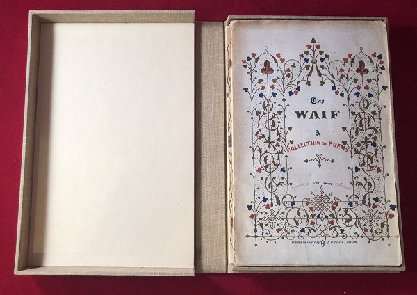 The Waif: A Collection of Poems (ORIGINAL WRAPS). Henry LONGFELLOW, et all.
