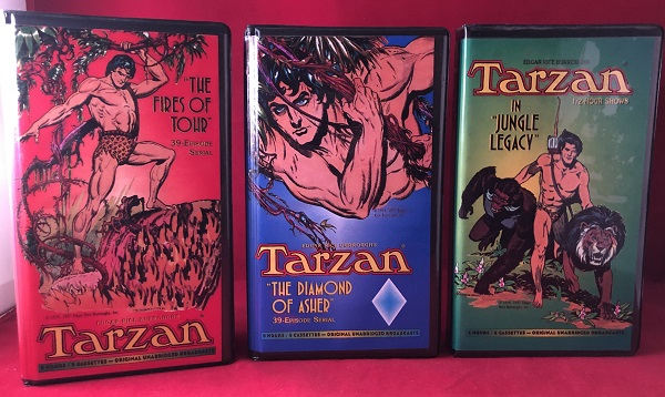 "SCARCE 1997 Audio Cassette LOT (Tarzan in ""Jungle Legacy"", ""The Diamond of Asher"" & ""The First of Tohr""). Edgar Rice BURROUGHS."