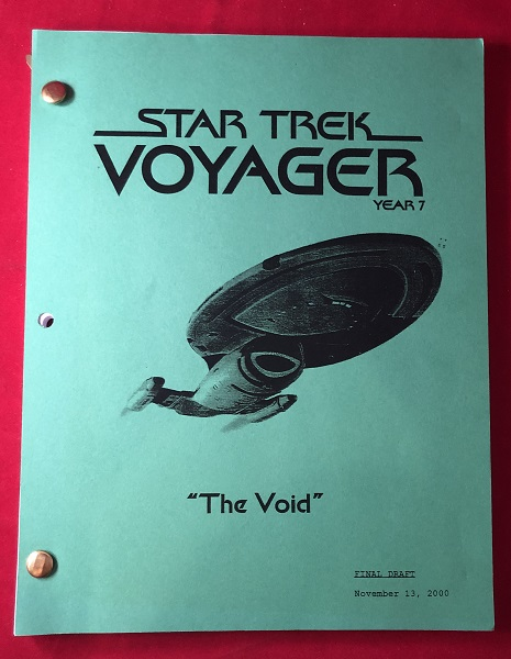 "Star Trek Voyager ""The Void"" Script [SIGNED X3 / FROM PERSONAL COLLECTION OF JAMES KAHN]; FROM THE AUTHOR OF ""THE GOONIES"", ""INDIANA JONES AND THE TEMPLE OF DOOM"" & ""RETURN OF THE JEDI"" Film Movies, Television."