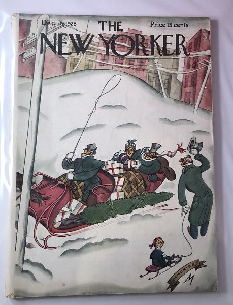 The New Yorker Magazine [ December 15, 1928] / Julian de Miskey Cover. THE NEW YORKER.
