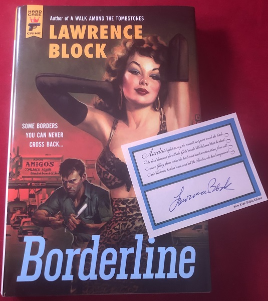 Borderline (SIGNED 1ST). Detective, Mystery.