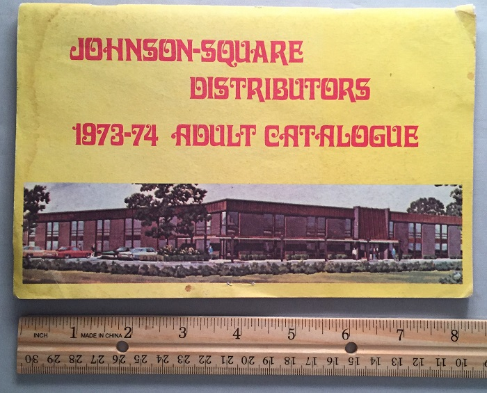 Johnson - Square Distributors 1973-74 Adult Catalogue. Erotica, Johnson Square DISTRIBUTORS.