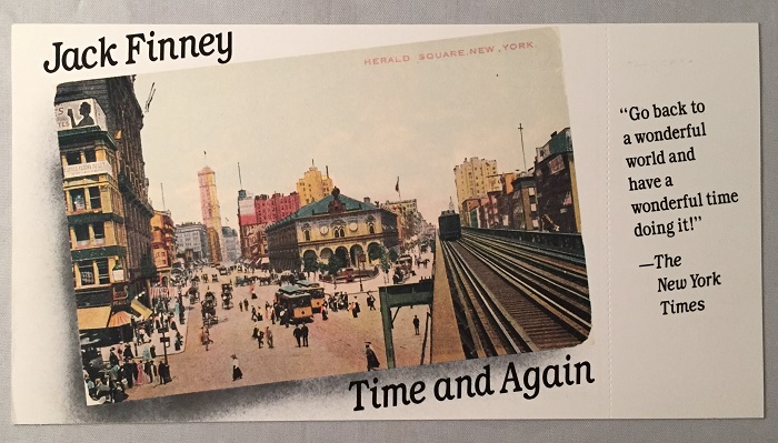 Time and Again (Circa 1971 Advertising Postcard for the First Paperback Edition). Jack FINNEY.