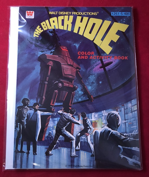 The Black Hole Color and Activity Book (UNUSED 1979 NOS). WALT DISNEY PRODUCTIONS.