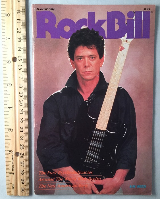 RockBill Magazine (Issue 26 - August, 1984). Magazines, Robert EDELSTEIN, Lou REED, et all.