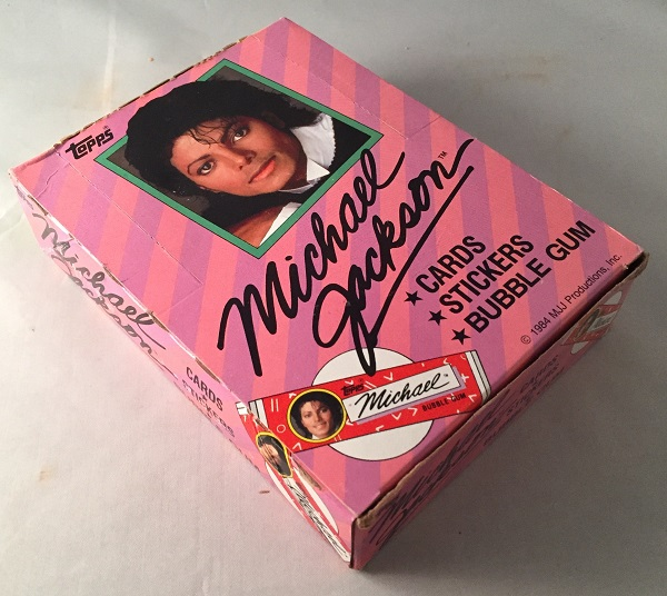1984 Unopened Box of MICHAEL JACKSON Trading Cards (36 Packs). BOX.