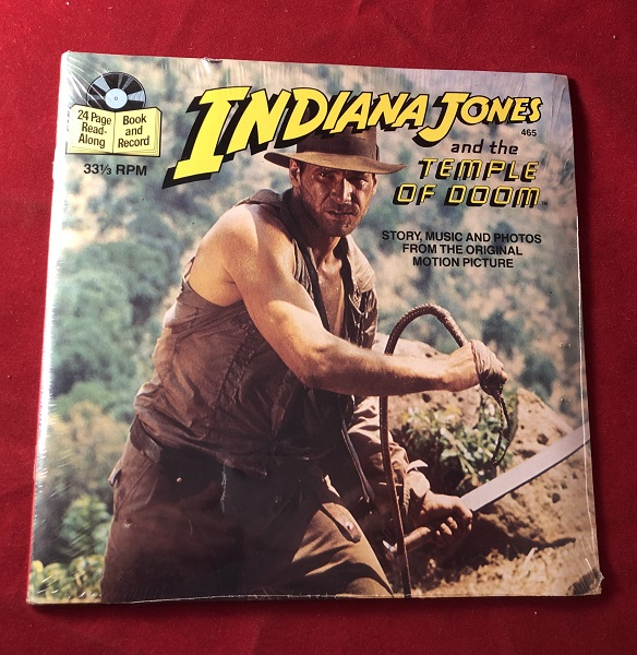 Indiana Jones and the Temple of Doom (24 Page Read-Along Book and Record); Story, Music and Photos from the Original Motion Picture. George LUCAS.