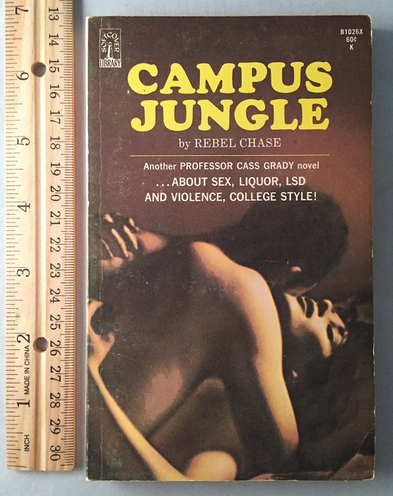 Campus Jungle; Another Professor Cass Grady novel... About Sex, Liquor, LSD and Violience, Colledge Style! Erotica, Rebel CHASE.