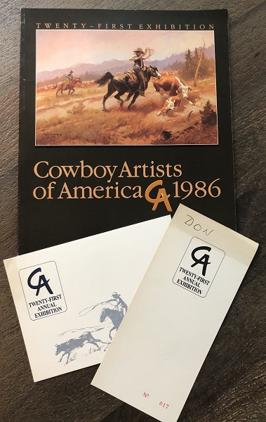 Cowboy Artists of American 1986 Twenty-First Exhibiton Catalog (SIGNED X 27 ARTISTS). Gary CARTER, et all.