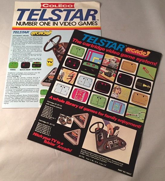 1977 COLECO Telstar Video Game Syster Promotional Flyer. Gaming, CEO, Arnold GREENBERG, et all.
