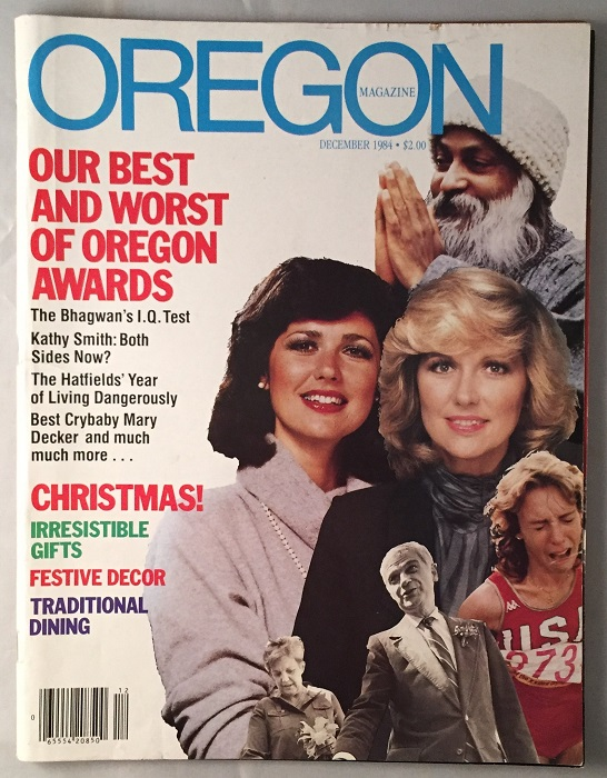 December, 1984 Oregon Magazine (FIRST MAJOR PUBLICITY FOR THE FILM PUBLISHED DURING THE FILMING IN ASTORIA, OR.). Kristi TURNQUIST, Chris COLUMBUS.