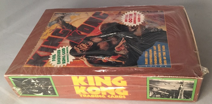 1993 KING KONG Trading Cards UNOPENED WAX BOX; (30 Unopened wax packs). Trading Cards, Box.