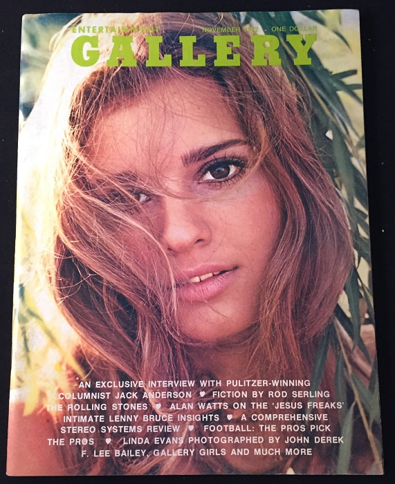 Gallery Magazine ISSUE #1 (November, 1972). Erotica, F. Lee BAILEY, Rod SERLING, et all.