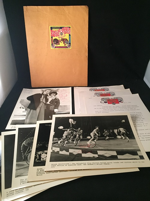 1974 Ringling Bros. Barnum & Bailey Circus OFFICIAL NEW YORK PRESS KIT (Signed X 4). Ephemera, Antoinette CONCELLO, Charles KING, T. J. TATTERS, et all.