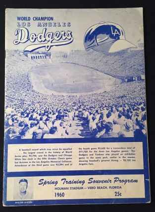 March 28, 1960 Los Angeles Dodgers VS New York Yankees Official Spring Training Program (HOLMAN STADIUM - VERO BEACH, FL). Baseball, Walter O'MALLEY, Bud HOLMAN, et all.