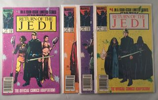 The Return of the Jedi (ORIGINAL 1983 FOUR-PART MARVEL COMIC RELEASE); The Official Comics...