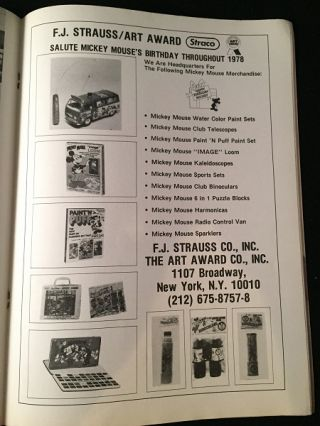 1978 Toy & Hobby World Special HAPPY BIRTHDAY MICKEY MOUSE Supplement (Complete 36 PP Merchandising Catalog)