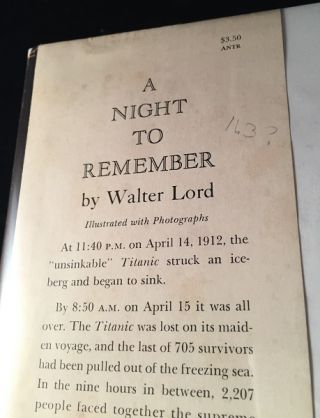 A Night to Remember (SIGNED ASSOCIATION COPY)