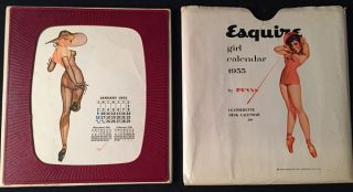 1955 Esquire Girl Calendar (IN ORIGINAL PAPER SLIP). George PETTY