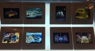 Original 1989 Universal Studios Florida 35mm PRE-OPENING Advertising Slide LOT of EIGHT (8)