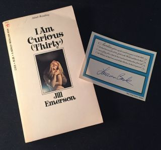 I Am Curious (Thirty) (SIGNED BY AUTHOR LAWRENCE BLOCK). Jill EMERSON, Lawrence BLOCK
