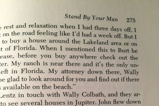 Stand By Your Man (ASSOCIATION COPY SIGNED AND INSCRIBED TO FRIENDS WHO ARE MENTIONED IN THE BOOK)