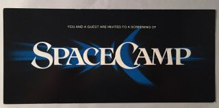 SpaceCamp (May 25, 1986 SPECIAL PROMOTIONAL FILM RELEASE TICKET). Kate CAPSHAW, Joaquin PHOENIX,...