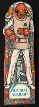 Original 1983 Star Wars Return of the Jedi ADMIRAL ACKBAR Bookmark; #16 in the series. George LUCAS