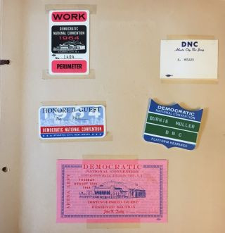 Archive of 1964 - 1968 Materials, Plans, Correspondence & Personal Effects of Democratic National Committee Chairman of Campaign Materials, Burnhart Muller