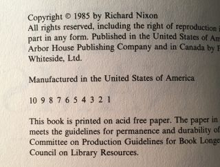 """No More Vietnams (FIRST PRINTING COPY SIGNED AND INSCRIBED TO GENERAL JAMES """"JIMMY"""" DOOLITTLE)"""