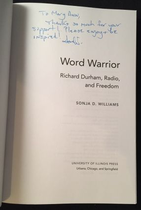 Word Warror: Richard Durham, Radio, and Freedom (SIGNED 1ST PRINTING)