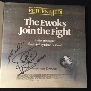 The Ewoks Join the Fight (FIRST PRINTING SIGNED BY WARWICK DAVIS)