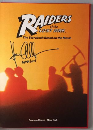 "Raiders of the Lost Ark (First Storybook Edition SIGNED BY KAREN ALLEN AKA ""Marion"")"