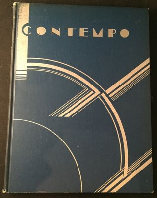 Contempo: This American Tempo (SIGNED AND INSCRIBED FIRST PRINTING). Art & Design, John VASSOS, Ruth VASSOS.