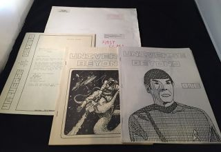 Universe Beyond (Star Trek Fanzine) Issues #1 & #2 in Original Mailer. Peter FLYNN, David...