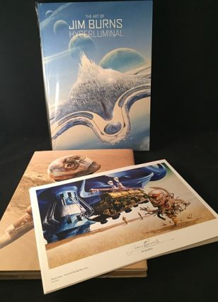 Hyperluminal: The Art of Jim Burns (DELUXE SIGNED EDITION OF ONLY 300 COPIES). Science Fiction, Jim BURNS.