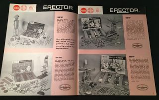 1964 Gilbert Toys Product Catalog (AMERICAN FLYER TRAINS AND ERECTOR SETS)
