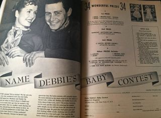 Screen Life Magazine for September, 1956 (FAMOUS CONTEST TO NAME DEBBIE'S BABY - THE FUTURE PRINCESS LEIA)